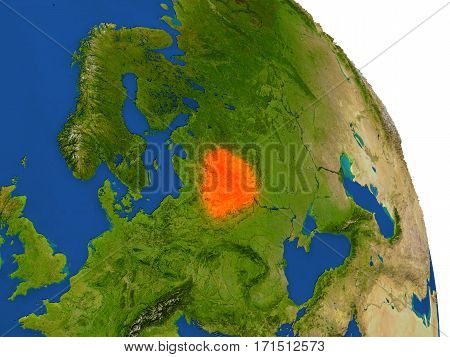 Map Of Belarus In Red