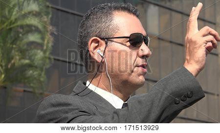 FBI Agent Or NSA Wearing Business Suit