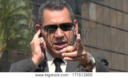 Security Or Fbi Agent and Wearing Sunglasses