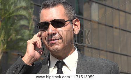 Fbi Or Secret Service Agent and Wearing Sunglasses