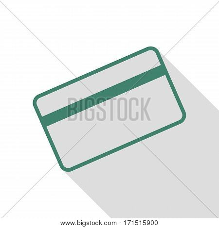 Credit card symbol for download. Veridian icon with flat style shadow path.