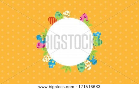 Illustration of easter theme frame collection stock