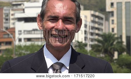 Smiling Older Businessman, Lawyer Attorney or Politician