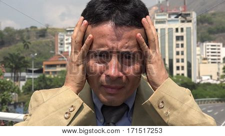 Man With Headache, Photo of Politician, Lawyer or Attorney