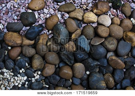 Gravel Textures Stone For Background Close Up