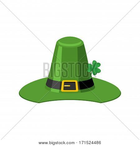 Leprechaun Green Hat Isolated. St. Patrick's Day National Holiday. Hat Magic Dwarf In Ireland.tradit