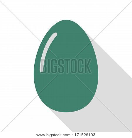 Chiken egg sign. Veridian icon with flat style shadow path.