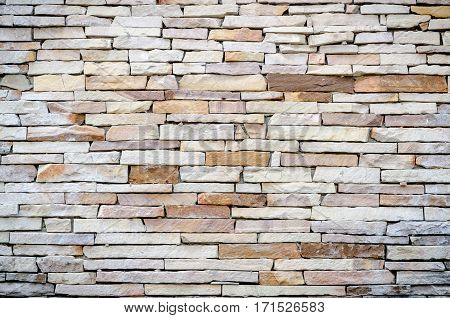 stone rock background texture on wall .