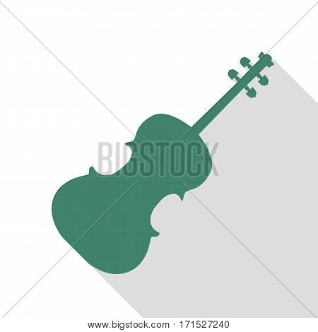 Violine sign illustration. Veridian icon with flat style shadow path.