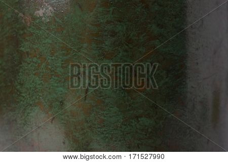 Old Green Patina metal texture background .