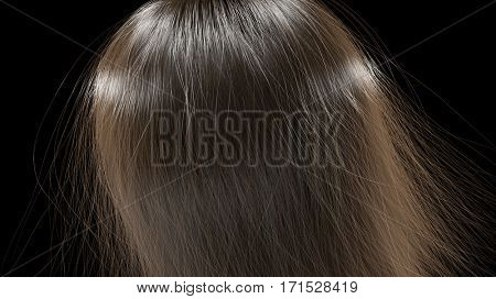 long hair texture,3d illustration
