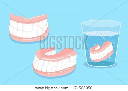 cute cartoon false tooth for your healthy concept
