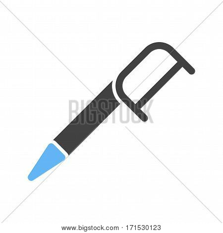 Dental, floss, teeth icon vector image. Can also be used for dentist equipment. Suitable for mobile apps, web apps and print media.