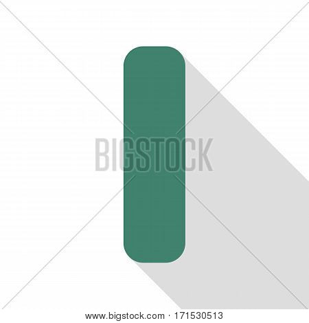 Letter I sign design template element. Veridian icon with flat style shadow path.