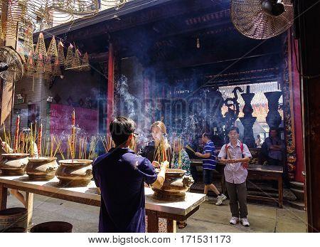 Jade Emperor Temple Located In Saigon, Vietnam