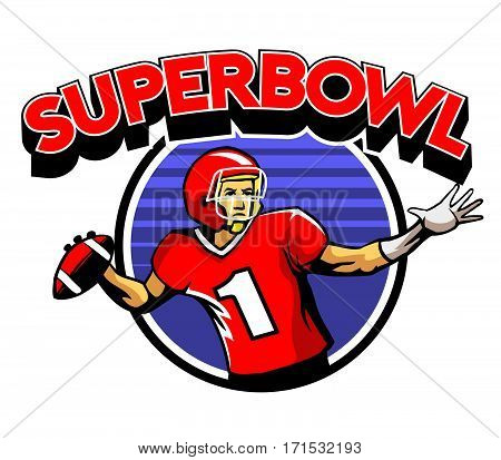 Vector illustration of super bowl American football theme