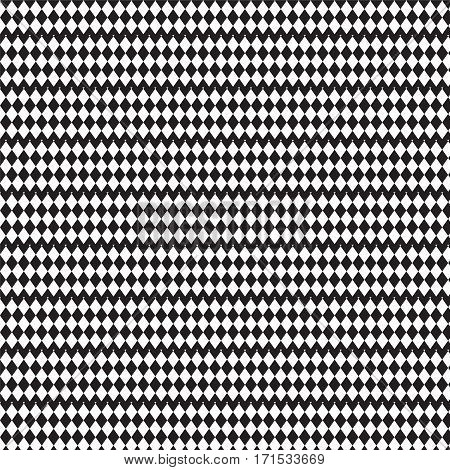 black and white crosswise squares filled in fence shape pattern background vector illustration image