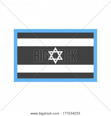 Israel, flag, national icon vector image. Can also be used for flags. Suitable for web apps, mobile apps and print media.