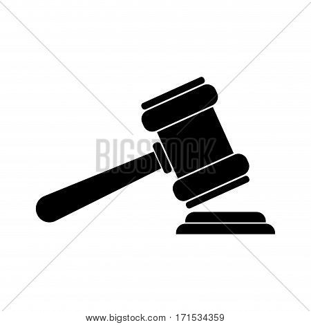 Justice gavel isolated icon vector illustration graphic design