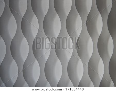 Simple Curved White Curtain Texture