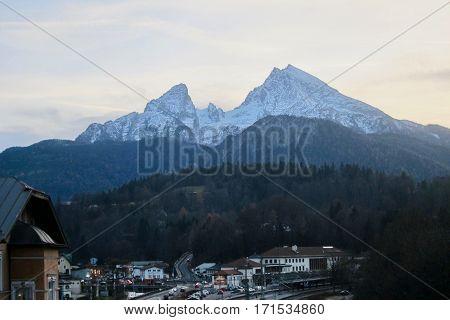 Watzmann, Alps, Germany, Berchtesgaden, Circa November 2016