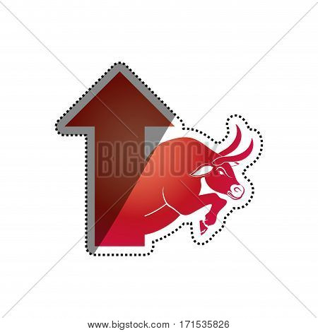 Bull stock market symbol icon vector illustration graphic design
