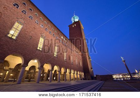 City Hall Stockholm at night