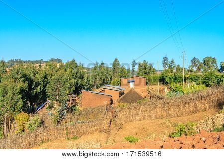 Houses in the countryside of Addis Ababa