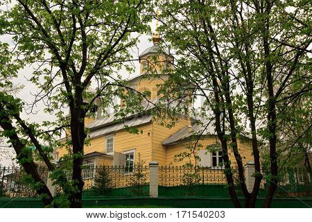 Gomel Belarus - 1 MAY 2013: A wooden building Old Believers Church.