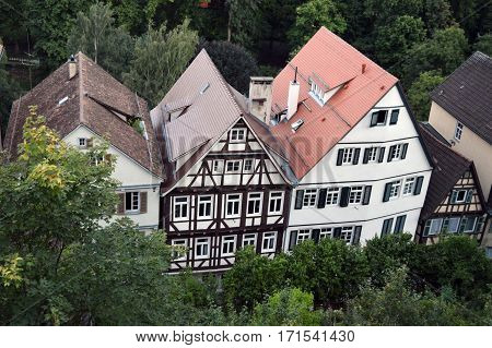 German tipical house, Tübingen, baden wurttemberg, germany