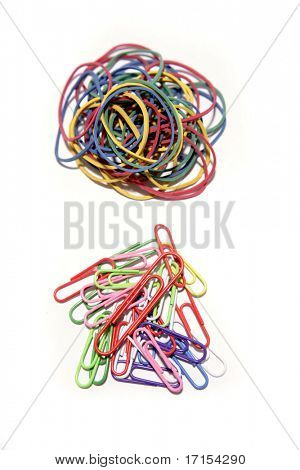 Rubber bands and paper clips