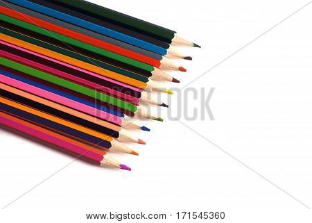 Drawing Materials: Pencils Of Different Colors