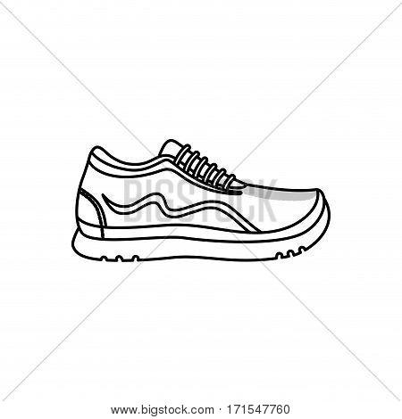 Sport running sneaker icon vector illustration graphic design