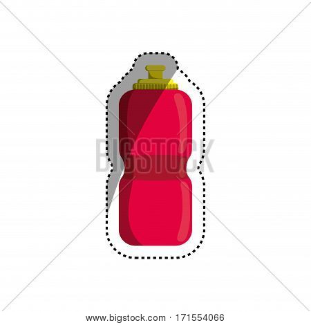 Sport thermo bottle icon vector illustration graphic design