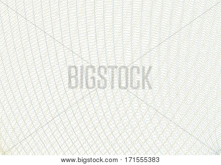 Guilloche vector background grid. Template to protect the securities, gift coupons, certificates, diplomas, letterheads, documents.
