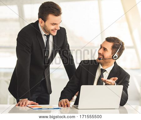 Handsome Businessmen Working