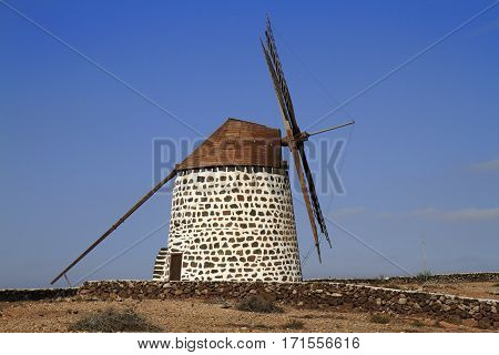 Old Round Windmill In Villaverde, Fuerteventura