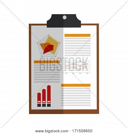 document page over white background. vector illustration