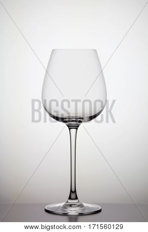 wineglass on white background, close-up studio shoot