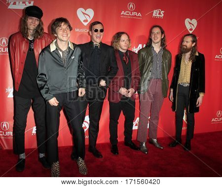 LOS ANGELES - FEB 10:  Cage The Elephant at the Musicares Person of the Year honoring Tom Petty at Los Angeles Convention Center on February 10, 2017 in Los Angeles, CA
