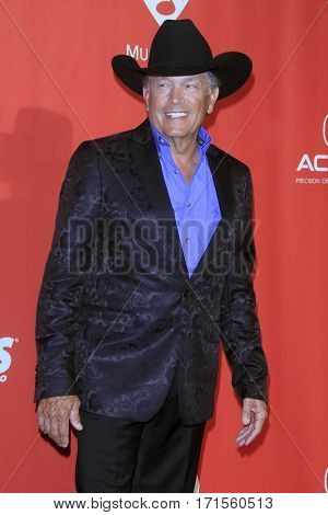 LOS ANGELES - FEB 10:  George Strait at the Musicares Person of the Year honoring Tom Petty at Los Angeles Convention Center on February 10, 2017 in Los Angeles, CA
