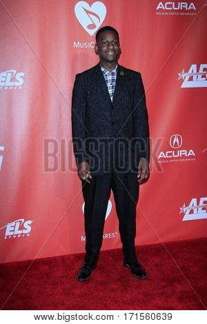 LOS ANGELES - FEB 10:  Leon Bridges at the Musicares Person of the Year honoring Tom Petty at Los Angeles Convention Center on February 10, 2017 in Los Angeles, CA