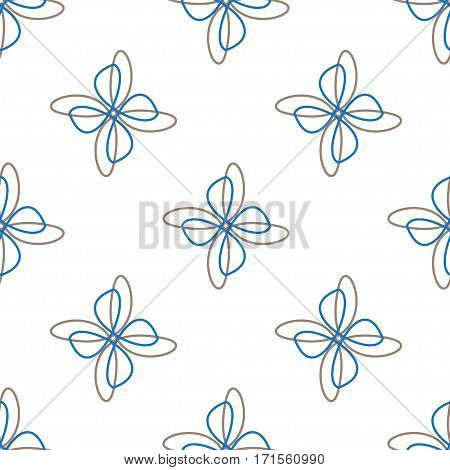 Abstract doodle white seamless background. Vector illustration