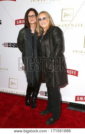 LOS ANGELES - FEB 11:  Linda Wallem, Melissa Etheridge at the Primary Wave 11th Annual Pre-GRAMMY Party at The London on February 11, 2017 in West Hollywood, CA