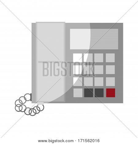 phone icon over white background. colorful design. vector illustraiton