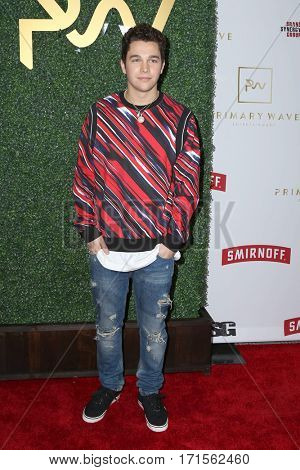 LOS ANGELES - FEB 11:  Austin Mahone at the Primary Wave 11th Annual Pre-GRAMMY Party at The London on February 11, 2017 in West Hollywood, CA