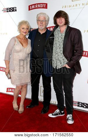 LOS ANGELES - FEB 11:  Michael McDonald, Amy Holland, Dylan McDonald at the Primary Wave 11th Annual Pre-GRAMMY Party at The London on February 11, 2017 in West Hollywood, CA