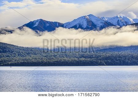beautiful scenic of lake te anau most popular traveling destination in south island new zealand