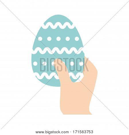 hand hing easter egg vector illustration eps 10