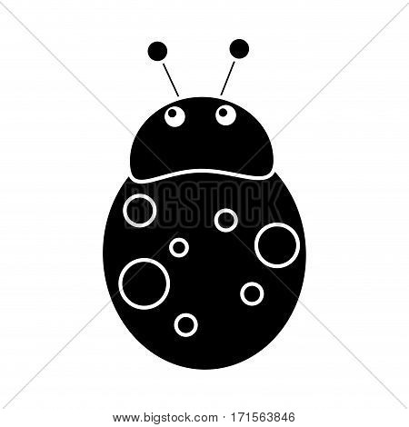 ladybug fly antenna animal pictogram vector illustration eps 10